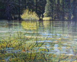 Perfect Day, Emerald Bay 24 x 30 inches,  oil on canvas, 2012
