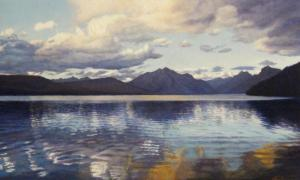 Early Evening, Lake McDonald 6 x 8 inches, oil on board, 2011