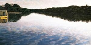 Sunrise, Everglades 22 x 44 inches, oil on canvas, 1991
