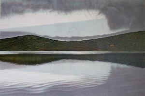 Fog Break, Abbott's Lagoon 20 x 30 inches,Lithograph, 1986