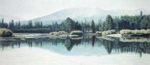 Morning on the Tuolumne 11 x 25 inches, colored pencil, 1984