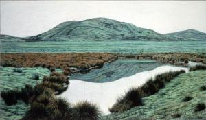 Pt. Reyes 7 x 12 inches, colored pencil, 1984
