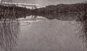 Spring Lake 12 x 20 inches, etching,  1983